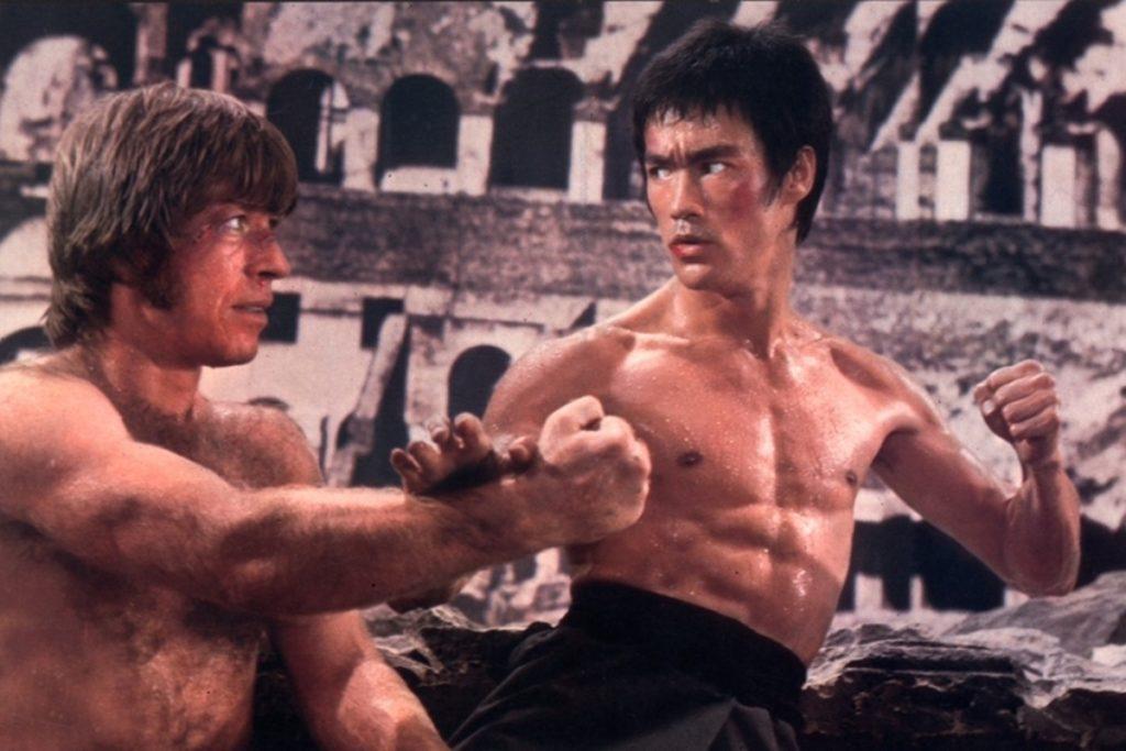 Bruce Lee e Chuck Norris