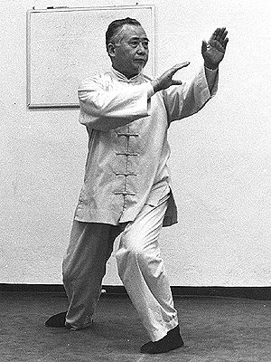 Il M° Chang Dsu Yao che pratica Tai Chi Ch'uan